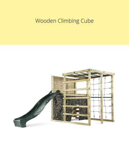 Plum Wooden Climbing Cube